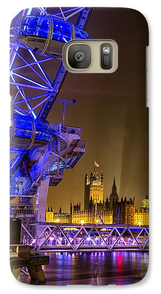 Big Ben And The London Eye Galaxy S7 Case by Ian Hufton