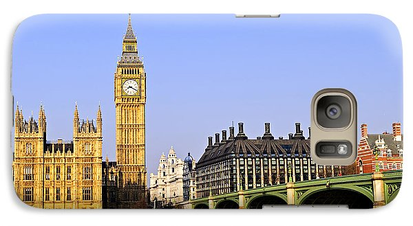 Big Ben And Westminster Bridge Galaxy Case by Elena Elisseeva