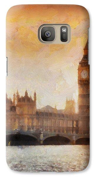 Big Ben At Dusk Galaxy S7 Case by Pixel Chimp