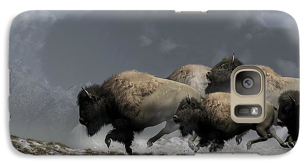 Bison Stampede Galaxy Case by Daniel Eskridge