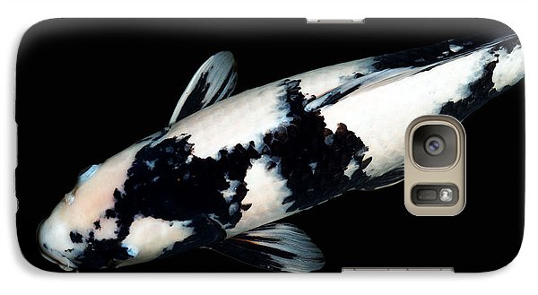 Black And White Koi Galaxy S7 Case by Rebecca Cozart
