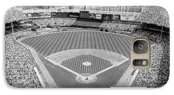 Black And White Yankee Stadium Galaxy S7 Case by Horsch Gallery