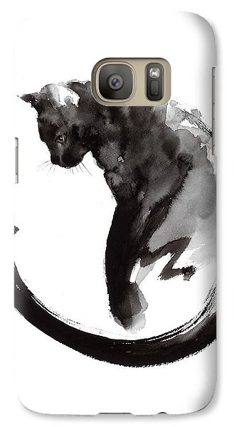 Black Cat Galaxy S7 Case by Mariusz Szmerdt