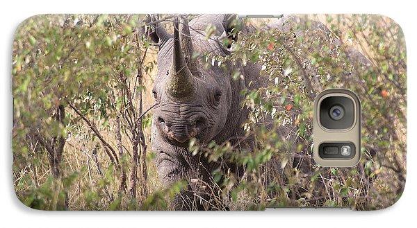 Black Rhino  Galaxy S7 Case by Chris Scroggins