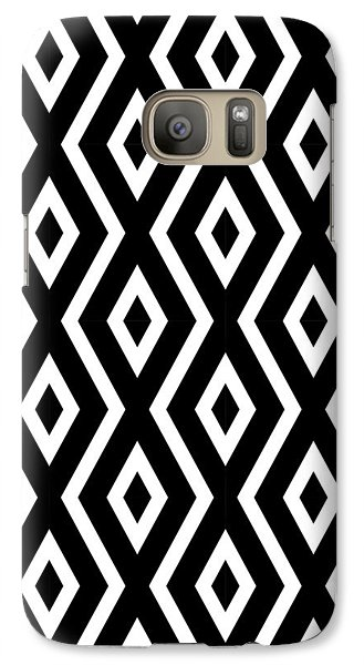Black And White Pattern Galaxy Case by Christina Rollo