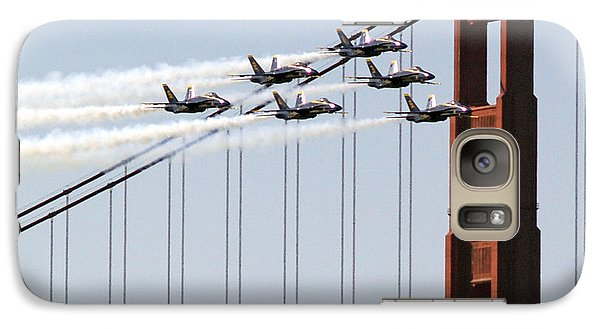 Blue Angels And The Bridge Galaxy S7 Case by Bill Gallagher
