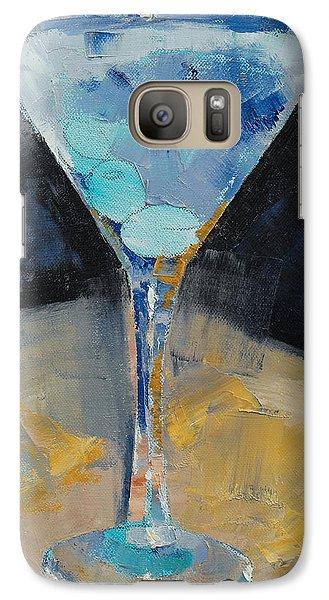 Blue Art Martini Galaxy Case by Michael Creese