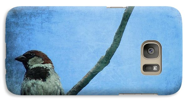 Sparrow On Blue Galaxy S7 Case by Dan Sproul