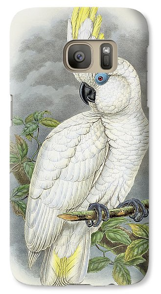 Blue-eyed Cockatoo Galaxy Case by William Hart