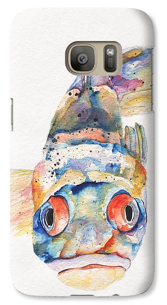 Blue Fish   Galaxy Case by Pat Saunders-White