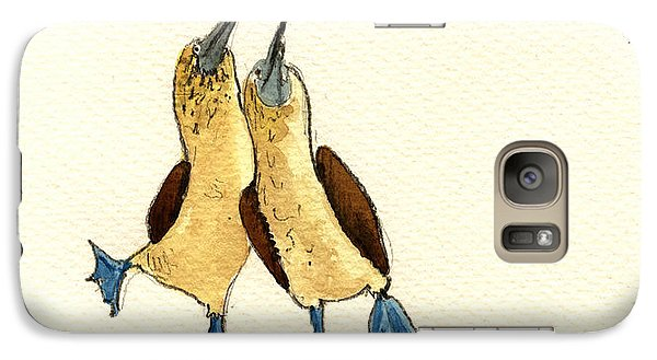Blue Footed Boobies Galaxy S7 Case by Juan  Bosco