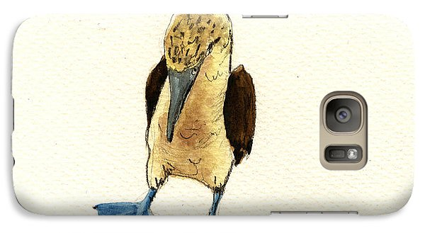 Blue Footed Booby Galaxy S7 Case by Juan  Bosco