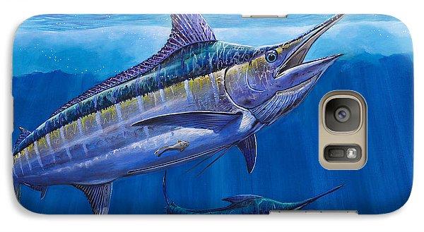 Blue Marlin Bite Off001 Galaxy S7 Case by Carey Chen