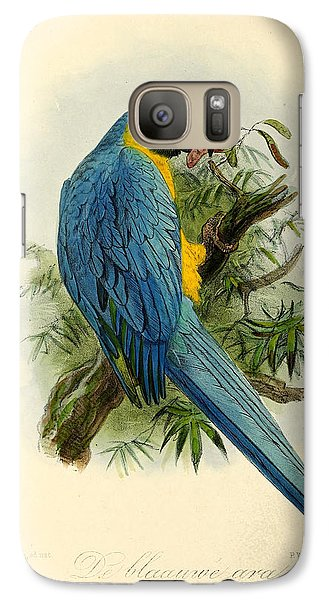 Blue Parrot Galaxy S7 Case by J G Keulemans