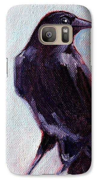Blue Raven Galaxy S7 Case by Nancy Merkle