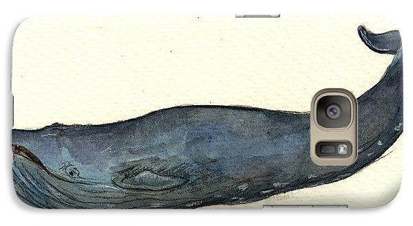 Blue Whale Galaxy Case by Juan  Bosco