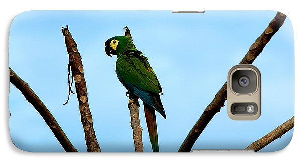 Blue-winged Macaw, Brazil Galaxy S7 Case by Gregory G. Dimijian, M.D.