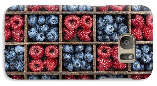 Blueberries And Raspberries  Galaxy Case by Tim Gainey