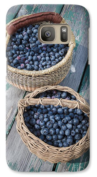 Blueberry Baskets Galaxy Case by Edward Fielding