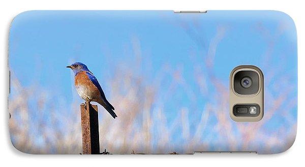 Bluebird On A Post Galaxy S7 Case by Mike  Dawson
