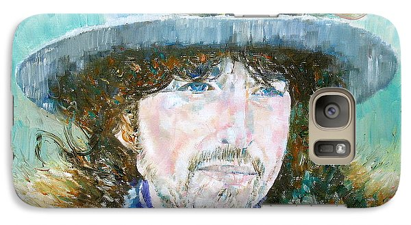 Bob Dylan Oil Portrait Galaxy S7 Case by Fabrizio Cassetta