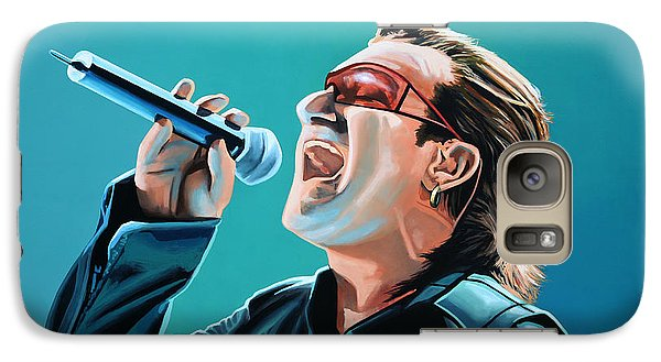 Bono Of U2 Painting Galaxy Case by Paul Meijering