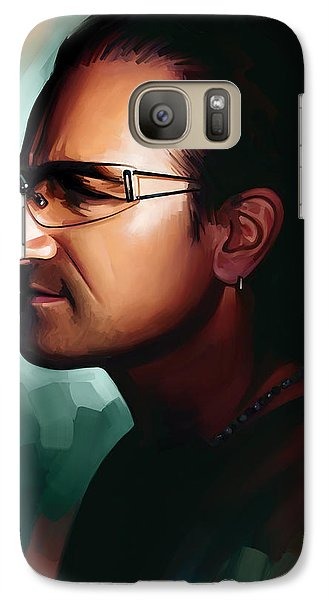 Bono U2 Artwork 1 Galaxy S7 Case by Sheraz A