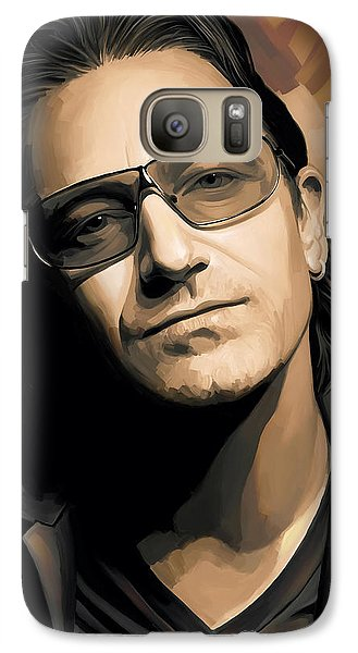 Bono U2 Artwork 2 Galaxy Case by Sheraz A