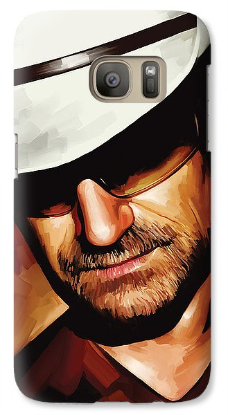 Bono U2 Artwork 3 Galaxy Case by Sheraz A
