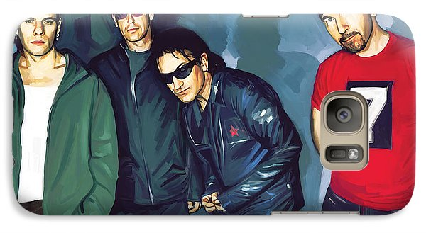 Bono U2 Artwork 5 Galaxy S7 Case by Sheraz A