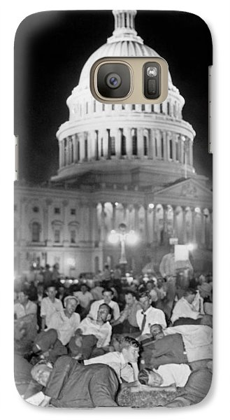 Bonus Army Sleeps At Capitol Galaxy S7 Case by Underwood Archives
