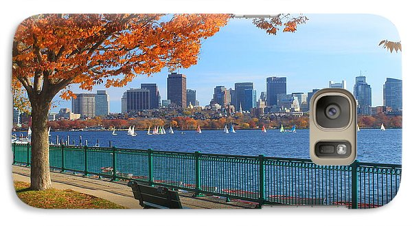 Boston Charles River In Autumn Galaxy Case by John Burk