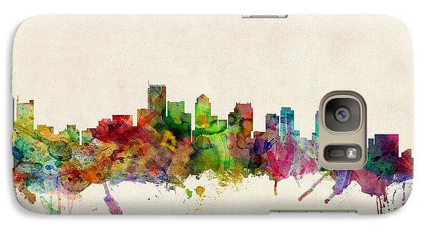 Boston Massachusetts Skyline Galaxy S7 Case by Michael Tompsett
