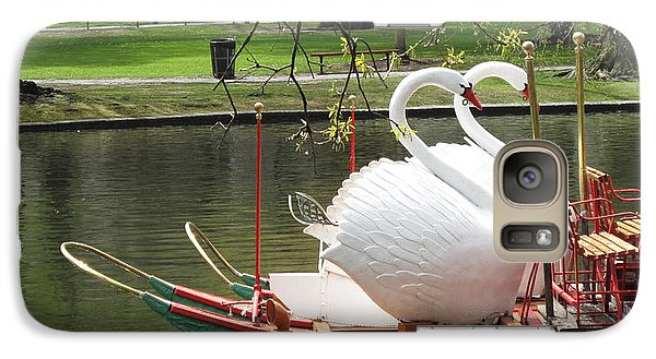 Boston Swan Boats Galaxy Case by Barbara McDevitt