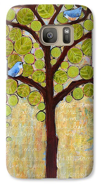 Boughs In Leaf Tree Galaxy Case by Blenda Studio