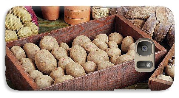 Box Of Potatoes Galaxy Case by Geoff Kidd