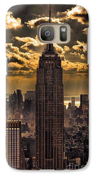 Brilliant But Hazy Manhattan Day Galaxy Case by John Farnan