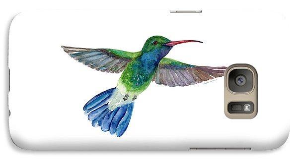 Broadbilled Fan Tail Hummingbird Galaxy S7 Case by Amy Kirkpatrick