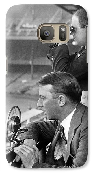 Broadcasting A Football Game Galaxy Case by Underwood Archives