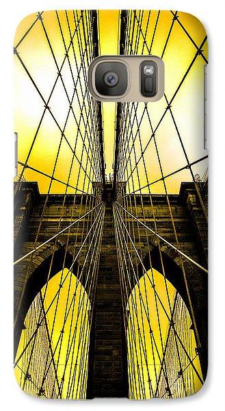 Brooklyn Bridge Yellow Galaxy Case by Az Jackson