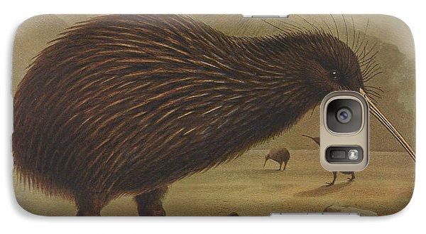 Brown Kiwi Galaxy Case by J G Keulemans