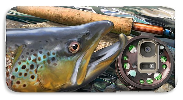 Brown Trout Sunset Galaxy Case by Craig Tinder