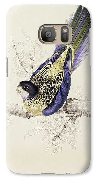 Browns Parakeet Galaxy S7 Case by Edward Lear