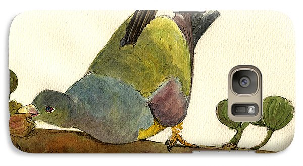 Bruce S Green Pigeon Galaxy Case by Juan  Bosco