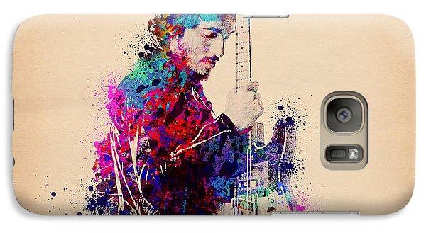 Bruce Springsteen Splats And Guitar Galaxy S7 Case by Bekim Art