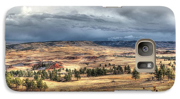 Galaxy Case featuring the photograph Buffalo Before The Storm by Bill Gabbert