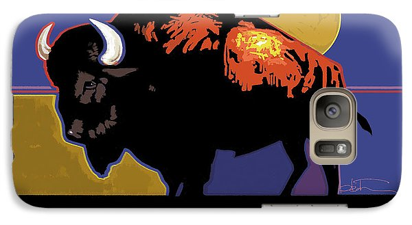 Buffalo Moon Galaxy Case by R Mark Heath