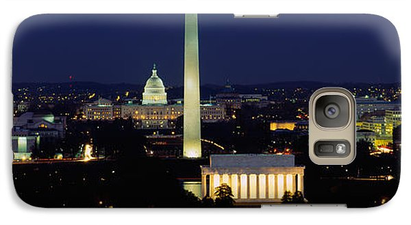 Buildings Lit Up At Night, Washington Galaxy Case by Panoramic Images