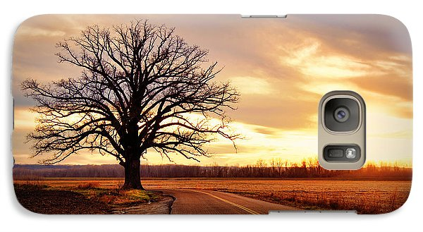 Burr Oak Silhouette Galaxy S7 Case by Cricket Hackmann