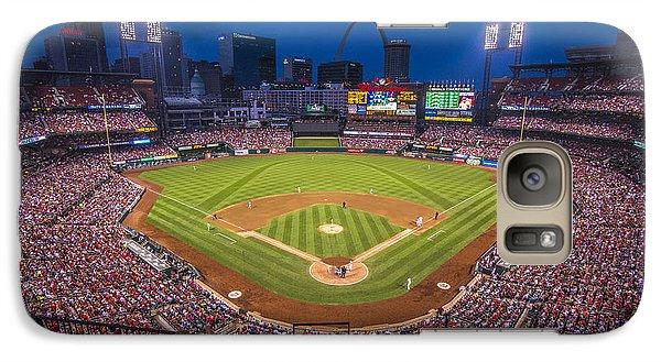 Busch Stadium St. Louis Cardinals Night Game Galaxy S7 Case by David Haskett